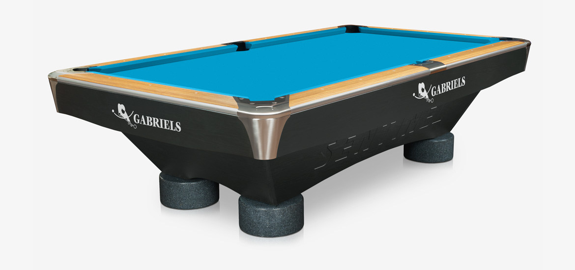 Kulečník pool billiard GABRIELS SENTINEL Zebrano 9ft,